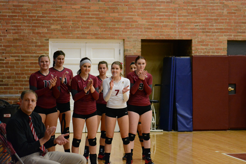 3rd 10/29/2016 Volleyball Senior Day Photo