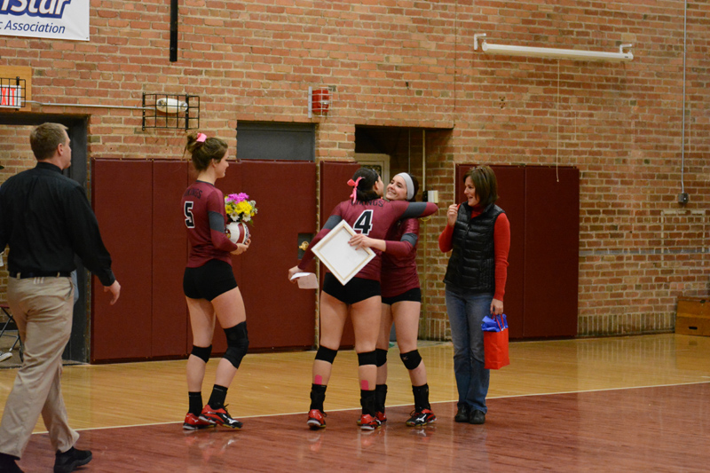 7th 10/29/2016 Volleyball Senior Day Photo