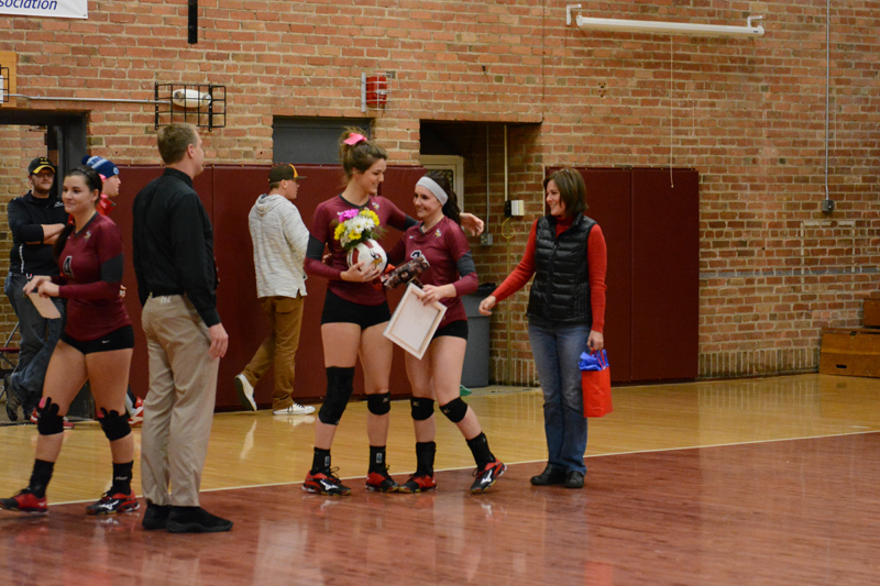 8th 10/29/2016 Volleyball Senior Day Photo