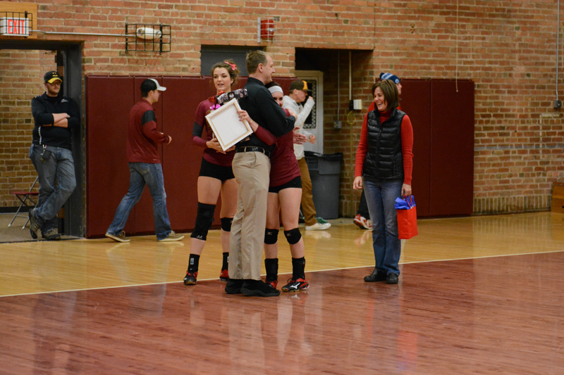 9th 10/29/2016 Volleyball Senior Day Photo