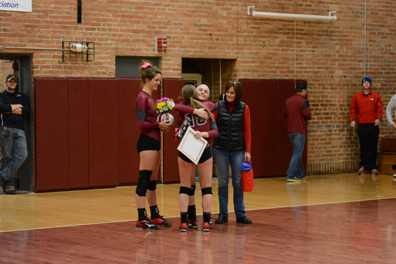 10th 10/29/2016 Volleyball Senior Day Photo