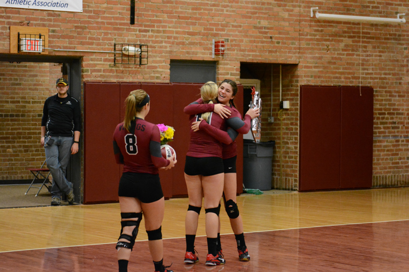 11th 10/29/2016 Volleyball Senior Day Photo