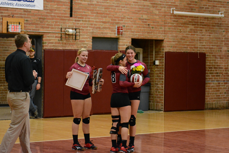 12th 10/29/2016 Volleyball Senior Day Photo