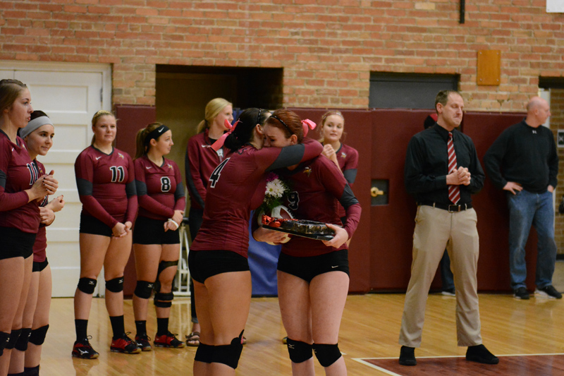 22nd 10/29/2016 Volleyball Senior Day Photo