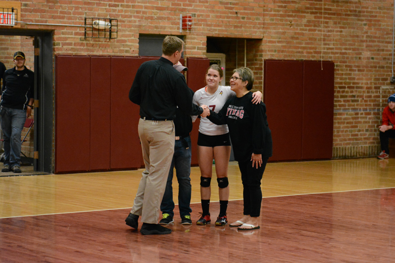 24th 10/29/2016 Volleyball Senior Day Photo