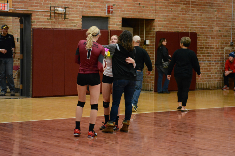 27th 10/29/2016 Volleyball Senior Day Photo