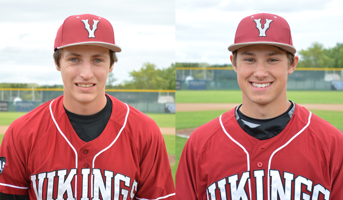 Jordon Roos, left, and Jared Meiklejohn.
