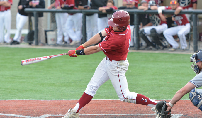 VCSU first baseman Joe Demers set new single-season school records for walks and triples.