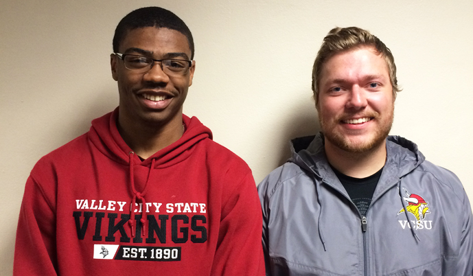 Mychael Bruce, left, and Mark Zinke have been named team captains for VCSU football.