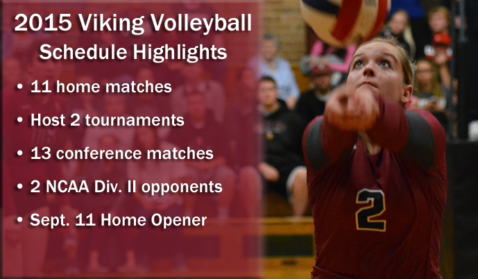Steph Miller and the Viking volleyball team open the season Aug. 21-22 in Phoenix, Ariz.