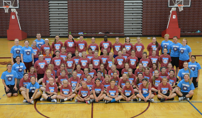 The VCSU women's basketball program hosted more than 250 athletes and coaches for camps last week.