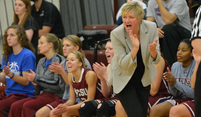 Head coach Jill DeVries and the Vikings hosts Dakota State Wednesday night in the NSAA semifinals.