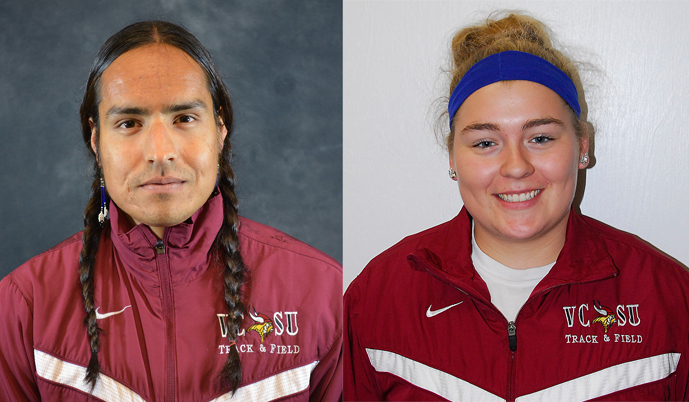 Richard Langdeaux, left, and Jessica Meland both had strong days Saturday at the NSU Open.