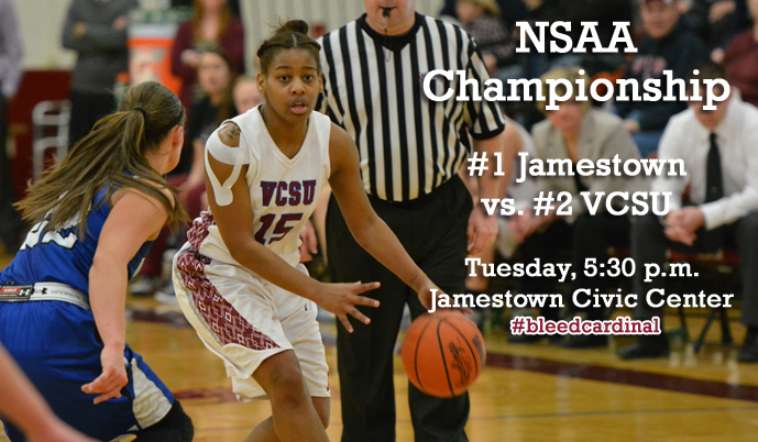 Sadiqah Jihad and the Vikings will play for the NSAA championship, Tuesday at the Jamestown Civic Center.