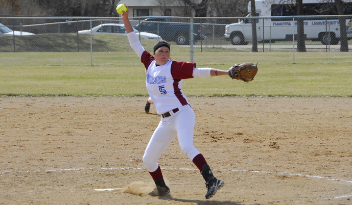 Pitcher Lindsey White and the Vikings have been picked to finish 2nd in the NSAA this season.