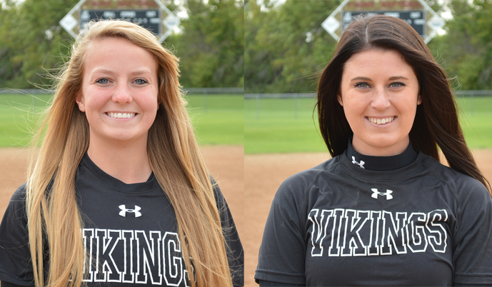 Kelli Moore, left, and Savannah McMillin