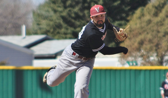 VCSU junior Alan Sandoval was named the NSAA Pitcher of the Week on Monday. (Photo Credit: Alan Hirsch)