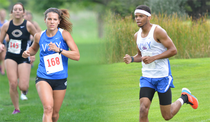 Jenna Coghlan, left, and Malik Jackson are two of the three seniors on this year's cross country team.