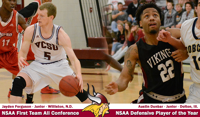 Photo for Three Vikings honored with NSAA men's basketball awards