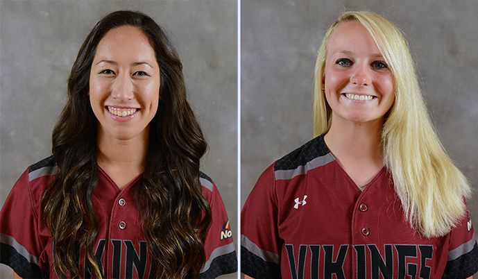 Kelsey Hamade, left, and Kelli Moore.