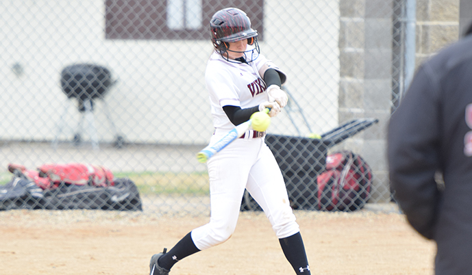 Tatum Lundin, pictured earlier this season, hit a grand slam for VCSU on Sunday.