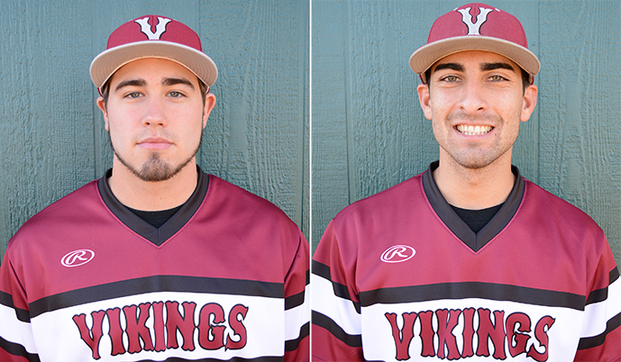 Ben Bruenjes, left, and Andrew Frank had big days for the Vikings on Friday at Dickinson.