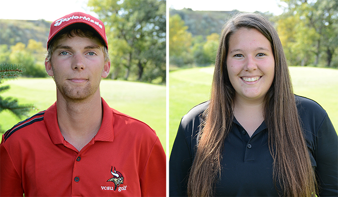 Kyle Wiebe, left, and Nicole Heinitz.