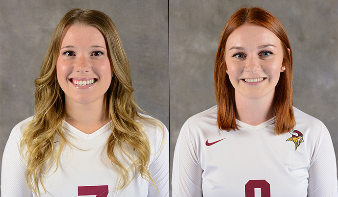 Photo for Volleyball's George and Cantelo Named NAIA Scholar Athletes