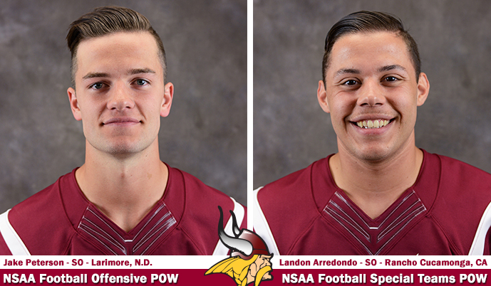 Photo for Two Vikings named NSAA Football Players of the Week